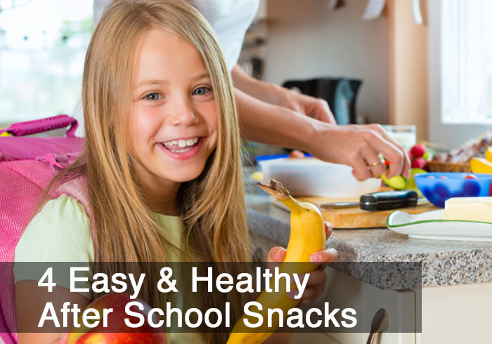 4 Easy & Healthy After School Snacks by @BlenderBabes