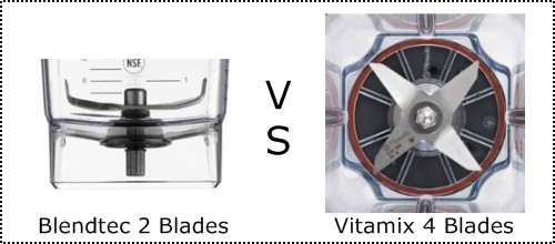 Blendtec vs Vitamix blades