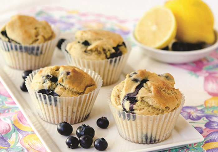 Blueberry Yogurt Muffins made in your Blendtec or Vitamix blender by @BlenderBabes