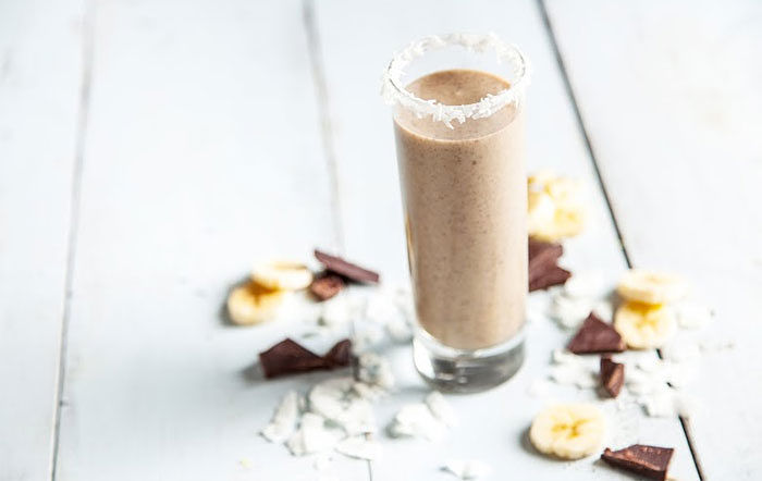 Coconut Chocolate Chip Recovery Smoothie by Vega made in your Blendtec or Vitamix by @BlenderBabes