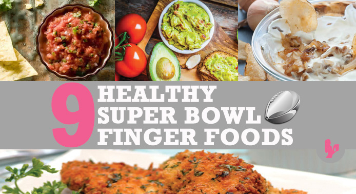 9 Healthy Super Bowl Finger Foods by @BlenderBabes
