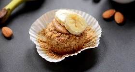 Gluten Free Banana Almond Meal Muffins Recipe by @BlenderBabes