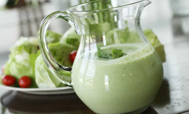 Green Goddess Dressing Recipe in a Vitamix or Blendtec. | Basil Green ...