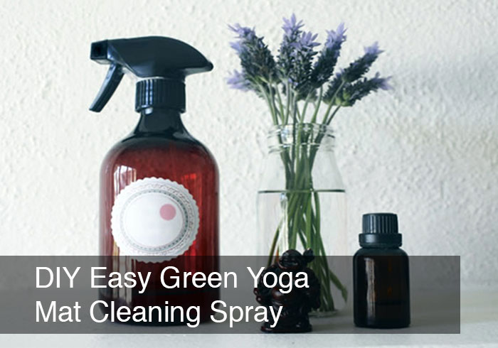 DIY Easy Green Yoga Mat Cleaning Spray by @BlenderBabes