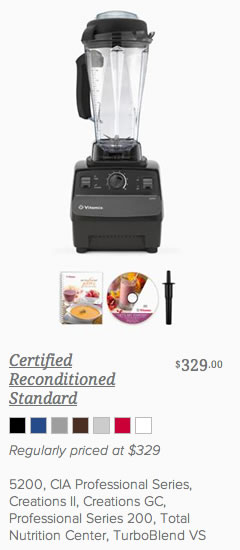 Buy Vitamix Reconditioned Standard 5200 with Free Shipping from @BlenderBabes