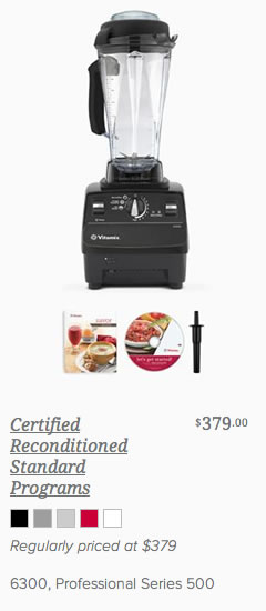 Buy Vitamix Reconditioned Standard with Programs 6300 & 500 with FREE SHIPPING from @BlenderBabes