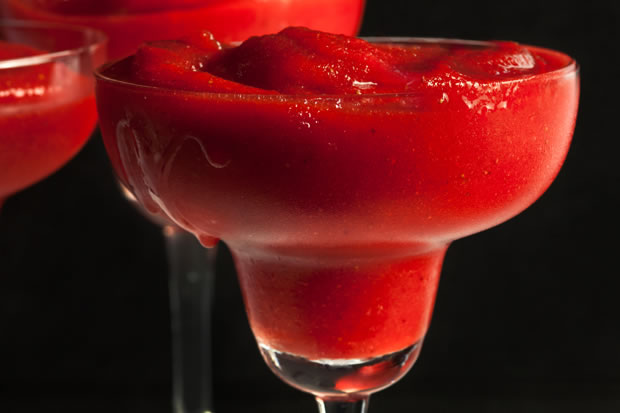 The Best Strawberry Margarita Recipe in a Blendtec or Vitamix by @BlenderBabes