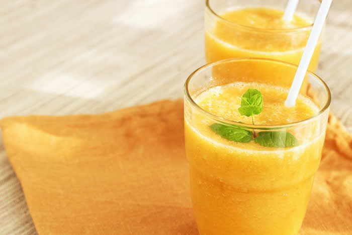 Tropical Papaya Banana Fruit Smoothie