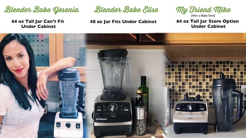 Vitamix Reviews how they fit underneath kitchen counter
