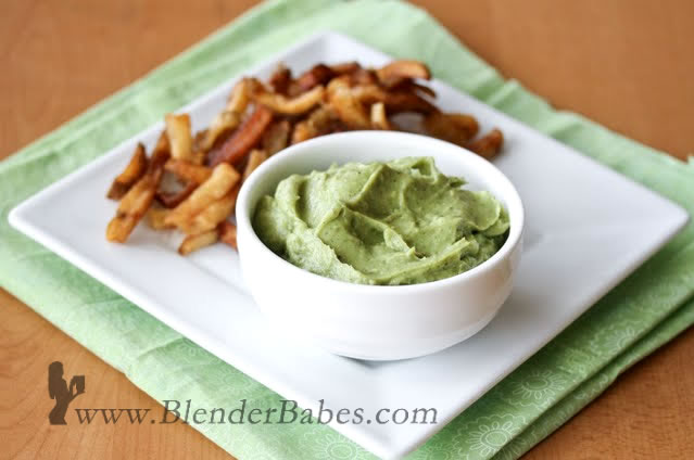 Easy Avocado Spread made in a Blendtec or Vitamix blender