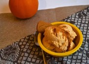 Homemade Skinny Pumpkin Pie Ice Cream Recipe made in a blender