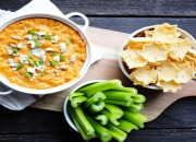 Skinny Buffalo Chicken dip from @BlenderBabes