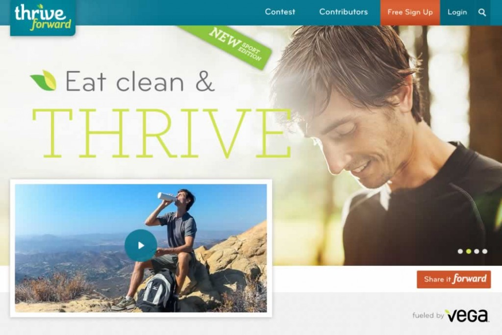 THRIVE FORWARD by Brendan Brazier a FREE Personalized Health Program