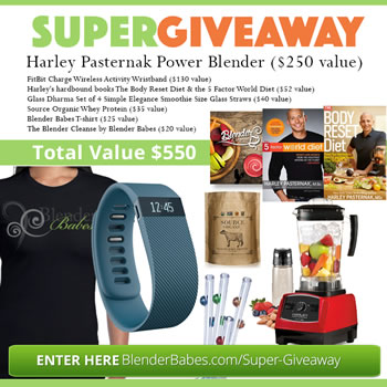 Harley Pasternak Blender and Fitbit Super Giveaway by Blender Babes