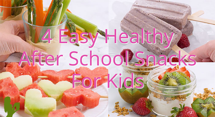 4 Easy & Healthy After School Snacks for Kids [VIDEO]