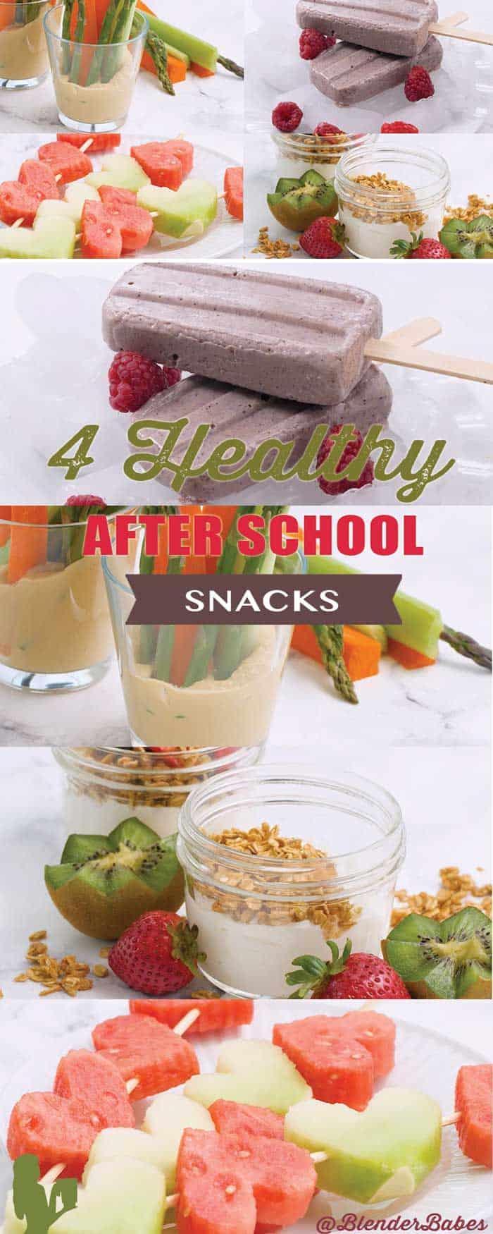 4 Easy Healthy After School Snacks for Kids by @BlenderBabes #snacks #snackideas #snacksforkids #healthysnacks #blenderbabes