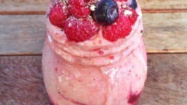 acai raspberry freeze recipe   easy smoothie recipe   frozen raspberry recipe