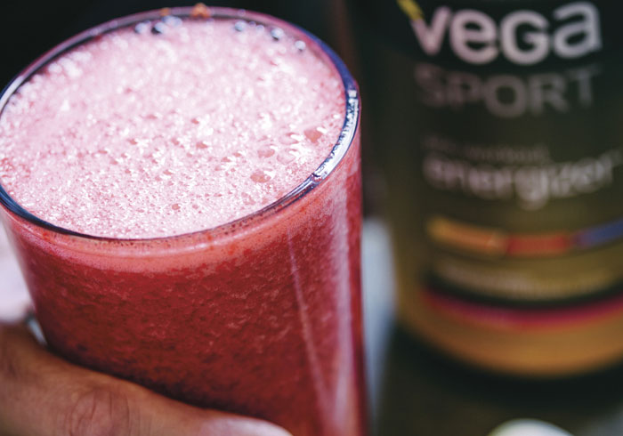 Acai Berry Pre-Workout Energizer Juice Recipe by Brendan Brazier @BlenderBabes