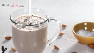 Almond Joy Protein Smoothie by @BlenderBabes Elise Joan