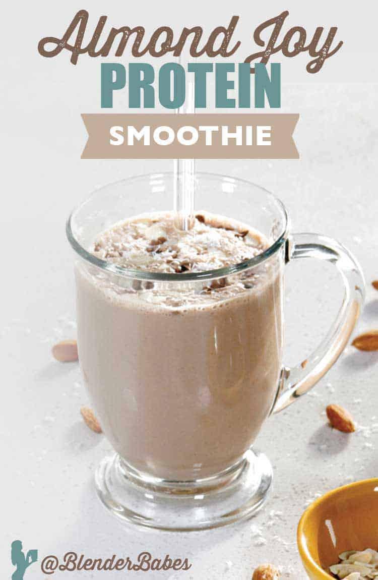 Almond Joy Protein Smoothie by @BlenderBabes Elise Joan