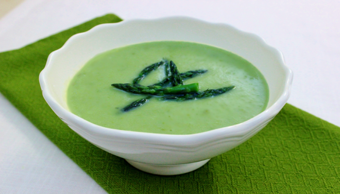 Kimberly Snyder's Asparagus and Leek Soup – Two Ways