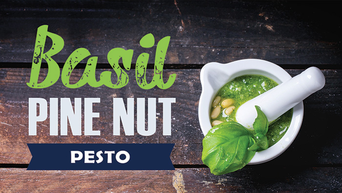 Basil Pine Nut Pesto Recipe in a Blendtec or Vitamix by @BlenderBabes