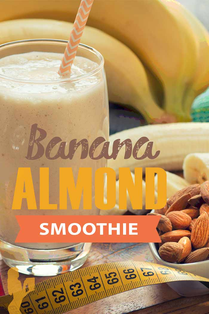 Banana Almond Smoothie Recipe by #BlenderBabes #bananasmoothie #almondsmoothie #proteinsmoothie #healthysmoothie