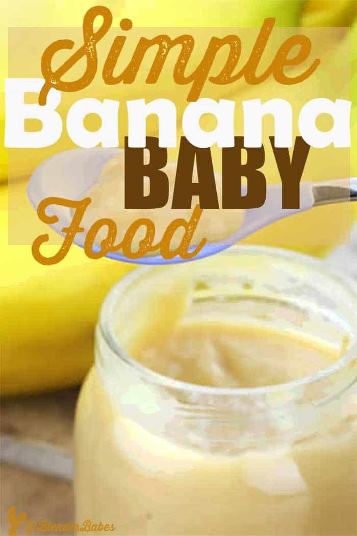 Simple Banana Baby Food Recipe