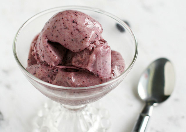 Blendtec and Vitamix Ice Cream Recipes | Banana Blueberry Ice Cream