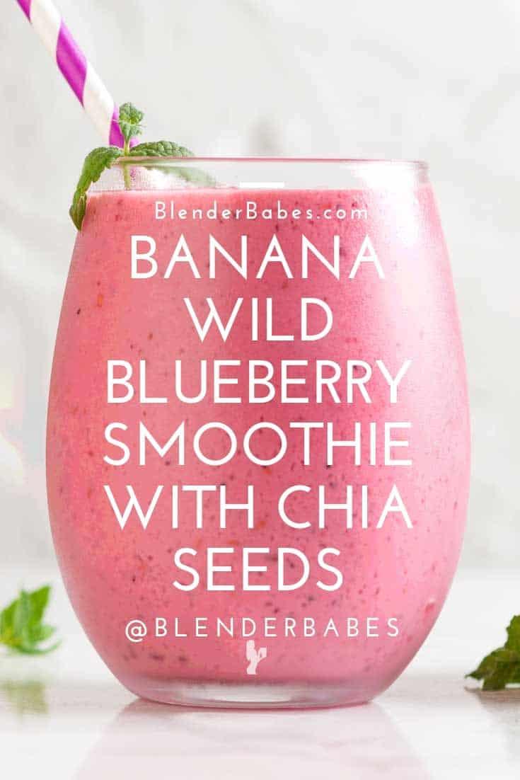 Banana blueberry smoothie blender babes