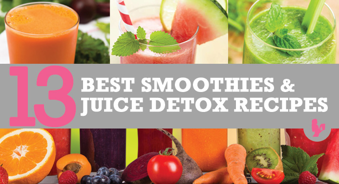 13 Best Smoothies and Juice Detox Recipes by @BlenderBabes