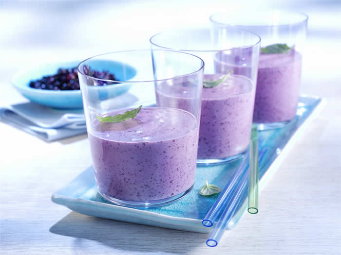 Betty Crocker's Blueberry Smoothie Recipe by @BlenderBabes
