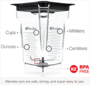 Blendtec Capacity Volume