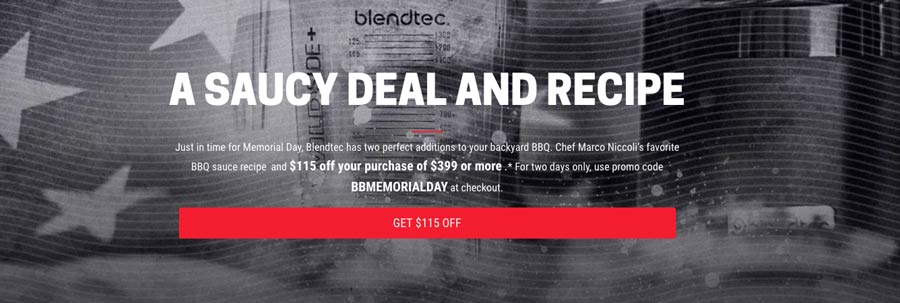 Blendtec Flash Memorial Day Sale