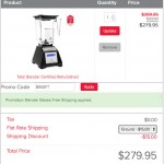 Blendtec refurbished classic checkout
