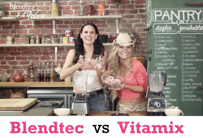 Blendtec vs Vitamix Grind Meat by The @BlenderBabes Reviews