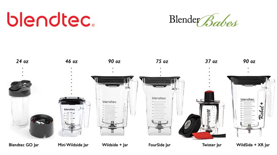 Blendtec Containers Options