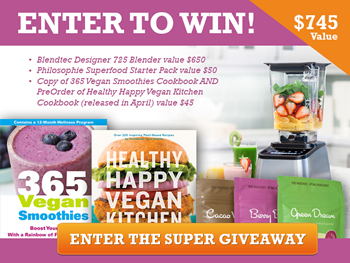 Blender Babes Super Giveaway! Win a Blendtec, Superfoods and Cookbooks!