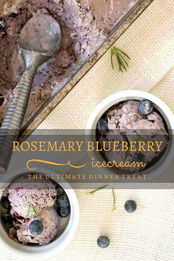 paleo blueberry rosemary ice cream from the paleo kitchen cookbook