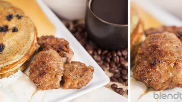 Healthier Breakfast Sausage Recipe in Your Blendtec or Vitamix by @BlenderBabes