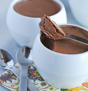 Chocolate Cardamom Pots du crème made in your Blendtec or Vitamix blender by @theblenderist via @BlenderBabes