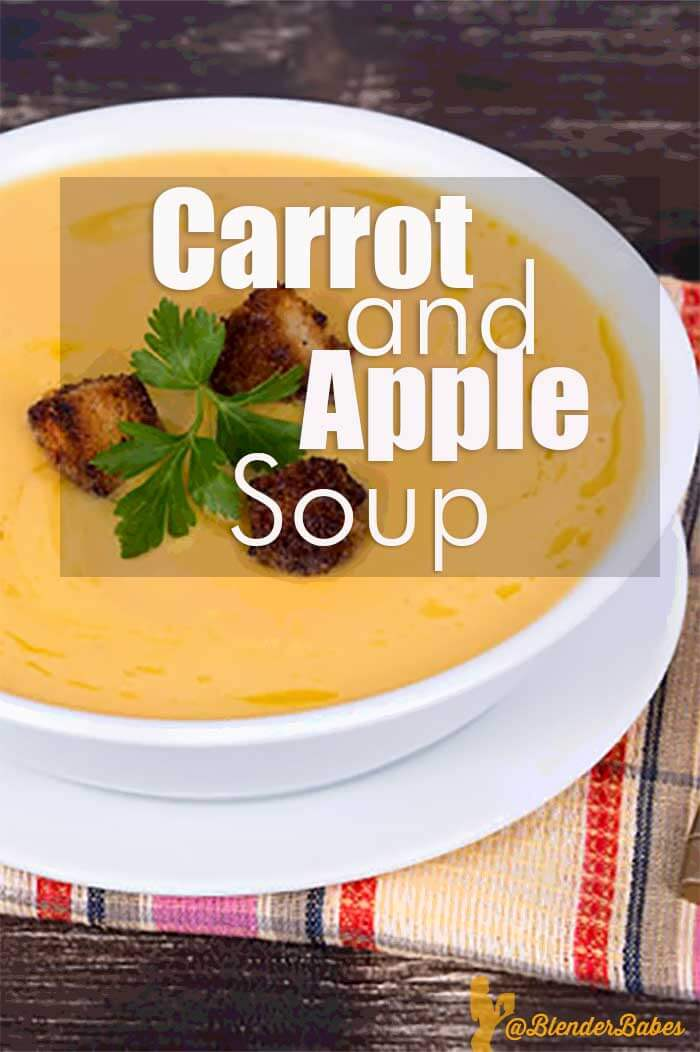 Healthy Easy Carrot Apple Soup Blender Recipe