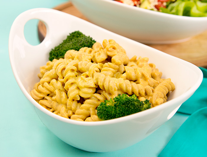 Vegan Cheesy Butternut Squash Pasta from The Vegiterranean Diet Cookbook via @blenderbabes