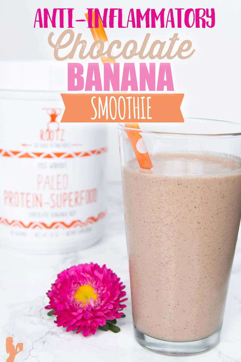 Chocolate Banana Smoothie with Rootz Protein Powder
