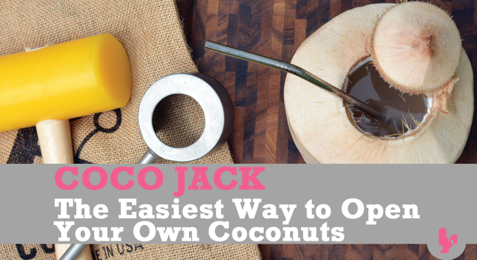 Coco Jack Review – the Easiest Way to Open Your Own Coconuts by @BlenderBabes