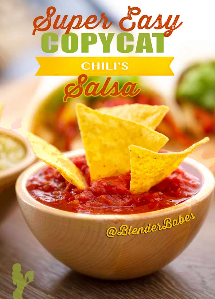 Copycat Chilis Salsa Recipe #chilissalsa #salsarecipes #homemadesalsa #chunkysalsa #blenderbabes