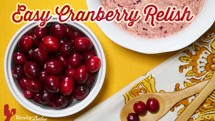 Easy Cranberry Relish Recipe Quickly Made In Your Blender by @BlenderBabes