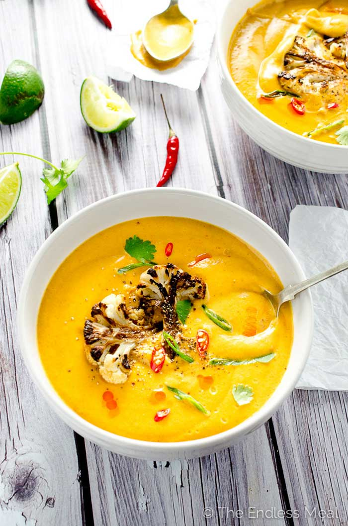 Easy Blendtec and Vitamix Soup Recipes That You Can Make In Any Blender Coconut Curried Cauliflower Soup