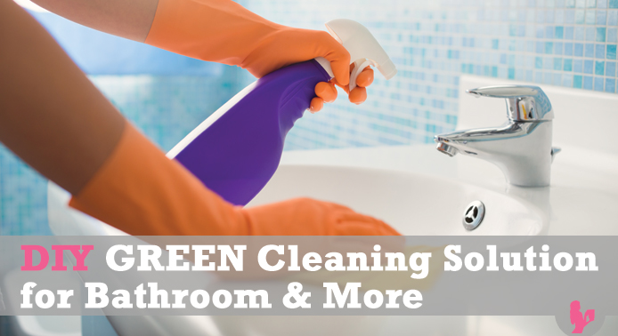 DIY GREEN Cleaning Solution for Bathroom & more @BlenderBabes