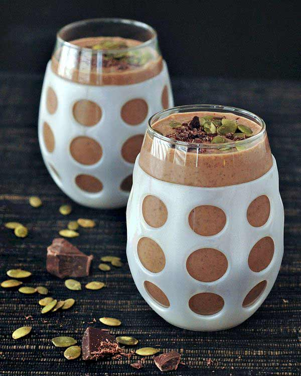 Double Chocolate Smoothie with Salted Pepitas - Smoothies Without Bananas